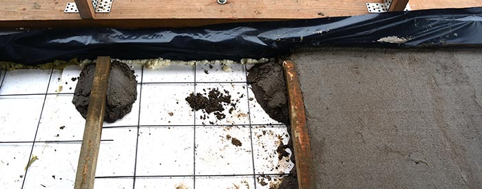 betonvloer isoleren Uden